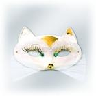 Карнавальная маска - белая ПАНТЕРА