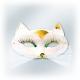 Karnevāla maska - balta  PANTERA