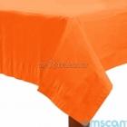 Скатерть бумажная без рисунка,  оранжевый цвет,  137 см х 274 см