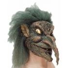 Ведьма с зелеными волосами, маска для Хэллоуина