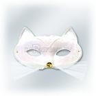 Карнавальная маска белого кота, ANGORA