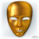 Венецианская карнавальная золотая маска