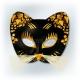 Karnevala melna ar zeltu  maska KAĶIS