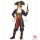 Карнавальный костюм (128см) - Пират 7 морей: куртка, жилет, жабо, манжеты, брюки, пояс, бахилы, шляпа, повязка на глаз