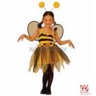 Костюм ПЧЕЛКА    в комплекте платье, крылья, ободок с рожками.  110 см   3-4 года  116 см   4-5 года