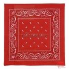 Красная бандана с узорами