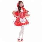 Костюм Красной Шапочки (110см), детский, 4-6 лет - платье с передничком, мини накидка с капюшоном