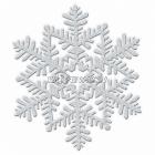 Снежинка - подвесная декорация диам. 16см, серебряная, с блестками