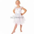 Костюм Белой Феи для девочек 1-3 года, в комплекте платье с украшенной золотом органзой и крылья, размер 86см