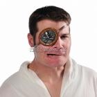 Pirātu acs aizsegs ar miroņgalvu pieaugušajiem, ar gumiju.