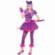 Костюм Чеширского Кота  для девочек 10-12 лет, в комплекте платье, ушки на ободке, короткие перчатки без пальцев и хвостик