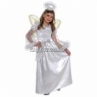 Костюм Ангела  для девочек 6-8 лет, в комплекте платье, нимб на ободке, крылья, размер 128см