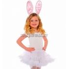 Ушки зайца, в комплекте ушки зайца на ободке и хвостик