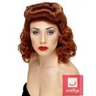 Парик в стиле 40-х,  длинные волнистые волосы, цвет - каштановый