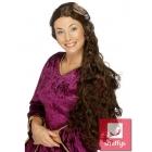 Парик гувернантки,  длинные волнистые волосы, цвет - коричневый