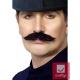 Черные искуcственные самоклеющиеся усы лондонского полицейского