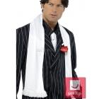 Белый шарф с кисточками  в стиле 20х годов