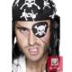 Pirāta acs aizsegs, melns, ar miroņgalvu