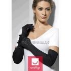 Элегантные чёрные перчатки, 52см
