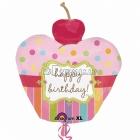 Супер-фигура шар из фольги ВИШНЕВОЕ пироженое День рождения