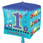 Cubez Супер фигура 1 День рождения  Шар из фольги