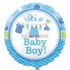 """18""""/45cm, folija balons,  bērna piedzimšanai mazulītis"""