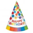 Dzimšanas diena konusa cepure 12.gab