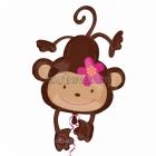 Monkey Love Super figūre Folija balons