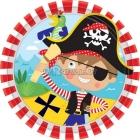 Тарелки с рисунком. Тема  - пиратские сокровища, 18см,  8 шт