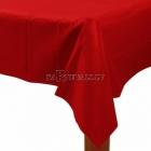 Скатерть  бумажная без рисунка,  Kрасное яблоко,  137 см х 274 см