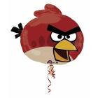 54 см х 51 см шар из фольги, Злая птица красная суперфигура