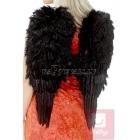 Eņģeļa spārni, melni, ar spalvām, 50 cm x 60 cm