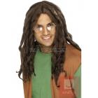 Ямайский парик, коричневый, с длинными дредами, синтетика