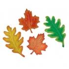 Осенние листья, 40см, картон, ламинированный фольгой с двух сторон. 4 штуки в упаковке.