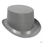 Атласный гладкий  цилиндр, серый