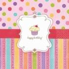Салфетки с рисунком - Праздник сладостей  33см х 33см 16 шт.