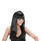 Женский парик длинные черные  волосы