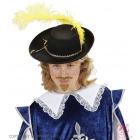 Детская шляпа мушкетера из фетра, с пером, цвет в ассортименте