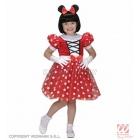 Костюм Минни Маус,  детский на 3-5 лет. Платье и ушки