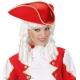 Sarkana, trīsstūraina cepure, filcs
