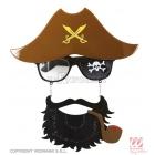 Пиратские капитанские  очки с бородой