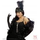 Чёрные женские  перчатки, 60 см
