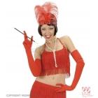 Красные женские  перчатки, 60 см