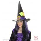 Шляпа ведьмы с заплатками из  сатина