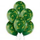 """""""kamuflāža"""" 12""""/30 cm lateksa baloni  6 gab. Caurspīdīgi: 035 Zaļš. Druka: 1 Krāsa(s) / 5 Puses"""