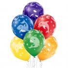 """""""Jūras dzīvnieki"""" 12""""/30 cm lateksa baloni 6 gab. Pastelis: 011 Koši Zaļš, 117 Koši Dzeltens, 007 Oranžs, 101 Sarkans, 153 Koši"""