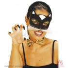 Balta, melna kaķu maska