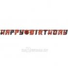 Гирлянда-буквы День Рождения - Ниндзя. В комплекте наклейки - цифры 0-9