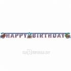 Гирлянда-буквы День Рождения - Томас и Друзья, 180см х 15см.