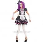 Костюм Сломанной Куклы на Хэллоуин девочке 12-14 лет - платье с подъюбником, передник, повязка ,маска, перчатки, легенсы.
